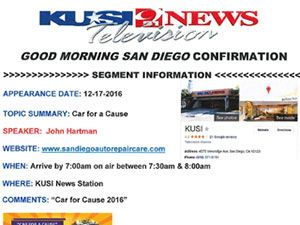 Car For A Cause Winner Krysia Marquis On Kusi TV