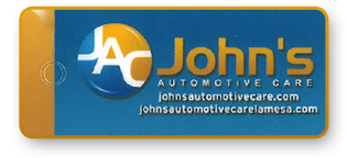 Punch card front | John's Automotive Care